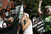 "New York, New York. United States. October 5th 2006..People protest against the Bush regime from the United Nations  to Union Square. All over the United States, 150 cities scream ""The World Can't Wait, Drive Out The Bush Regime""."