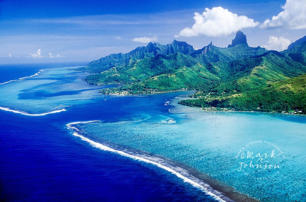 Aerial photograph of Moorea, French Polynesia --- French Polynesia
