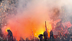 05.03.2011, Commerzbank-Arena, Frankfurt, GER, 1. FBL, Eintracht Frankfurt vs 1.FC Kaiserslautern, im Bild Pyro Technik im FCK Block, EXPA Pictures © 2011, PhotoCredit: EXPA/ nph/  Roth       ****** out of GER / SWE / CRO  / BEL ******
