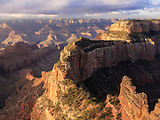 View from Cape Royal, North Rim, Grand Canyon National Park, at sunrise