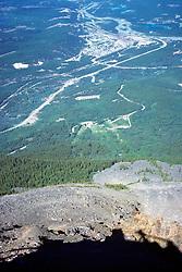 View From Whistler Mountain Of Jasper
