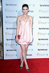 Kate Mara attending the Nespresso British Academy Film Awards Nominees Party at Kensington Palace, London.