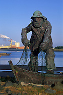 Statue of a fisherman at the Eureka Harbor, Humboldt County, CALIFORNIA