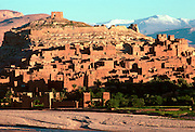 MOROCCO, HIGH ATLAS MOUNTAINS the Kasbah of Ait-Ben-Haddou, on the Ounila River near Ouarzazate south of Marrakech