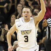 Central Florida guard A.J. Rompza (3) during a Conference USA NCAA basketball game between the Memphis Tigers and the Central Florida Knights at the UCF Arena on February 9, 2011 in Orlando, Florida. Memphis won the game 63-62. (AP Photo: Alex Menendez)