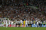 England players react after losing the 2018 FIFA World Cup Russia, semi-final football match between Croatia and England on July 11, 2018 at Luzhniki Stadium in Moscow, Russia - Photo Thiago Bernardes / FramePhoto / ProSportsImages / DPPI