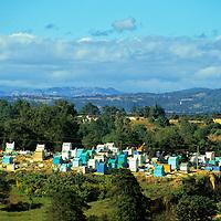 Central America, Latin America, Guatemala, Chichicastenango. A cemetary on the road into Chichicastenango.