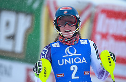 29.12.2014, Hohe Mut, Kühtai, AUT, FIS Ski Weltcup, Kühtai, Slalom, Damen, 2. Durchgang, im Bild Mikaela Shiffrin (USA) // Mikaela Shiffrin of the USA reacts after 2nd run of Ladies Giant Slalom of the Kuehtai FIS Ski Alpine World Cup at the Hohe Mut Course in Kuehtai, Austria on 2014/12/29. EXPA Pictures © 2014, PhotoCredit: EXPA/ Erich Spiess