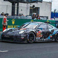 #77, Dempsey Proton Racing,Porsche 911 RSR, LMGTE Am,driven by: Christian Ried, Julien Andlauer, Matt Campbell on 17/06/2018 at the 24H of Le Mans, 2018