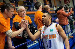 Brandyn Theodore Curry #10 of Helios Suns after the basketball match between KK Helios Suns and Ironi Nahariya in #10 Round of FIBA Champions League 2016/17, on January 10, 2017 in Sportna dvorana Domzale, Domzale, Slovenia. Photo by Vid Ponikvar / Sportida