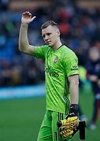Football - 2019 / 2020 Premier League - Burnley vs. Arsenal<br /> <br /> Arsenal keeper Bernd Leno applauds the Arsenal travelling support at the final whistle, at Turf Moor.<br /> <br /> <br /> COLORSPORT/ALAN MARTIN