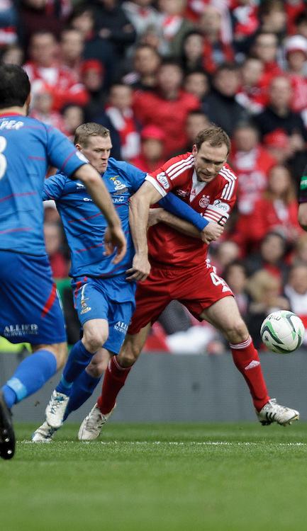 Scottish League Cup Final Aberdeen V Inverness CT at Parkhead on Sunday, 16th of March 2014, Aberdeen Scotland.<br /> Pictured: Billy Mckay and Russell Anderson<br /> (Photo Ross Johnston/Newsline Scotland)