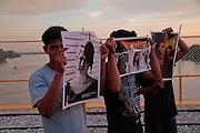 Puerto Fronterizo México - Guatemala, 14 de septiembre de 2011.<br /> Caravana al Sur, 2011. Movimiento por la Paz con Justicia y Dignidad. (Foto: Prometeo Lucero)