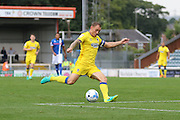 AFC Wimbledon defender & captain Barry Fuller (2) during the EFL Sky Bet League 1 match between Rochdale and AFC Wimbledon at Spotland, Rochdale, England on 27 August 2016. Photo by Stuart Butcher.