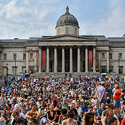 BMW Classics + live streamed on YouTube in Trafalgar Square, London, UK