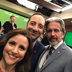 """Julia Louis-Dreyfus releases a photo on Instagram with the following caption: """"Green screen love. @veephbo #veep #finalepisode"""". Photo Credit: Instagram *** No USA Distribution *** For Editorial Use Only *** Not to be Published in Books or Photo Books ***  Please note: Fees charged by the agency are for the agency's services only, and do not, nor are they intended to, convey to the user any ownership of Copyright or License in the material. The agency does not claim any ownership including but not limited to Copyright or License in the attached material. By publishing this material you expressly agree to indemnify and to hold the agency and its directors, shareholders and employees harmless from any loss, claims, damages, demands, expenses (including legal fees), or any causes of action or allegation against the agency arising out of or connected in any way with publication of the material."""