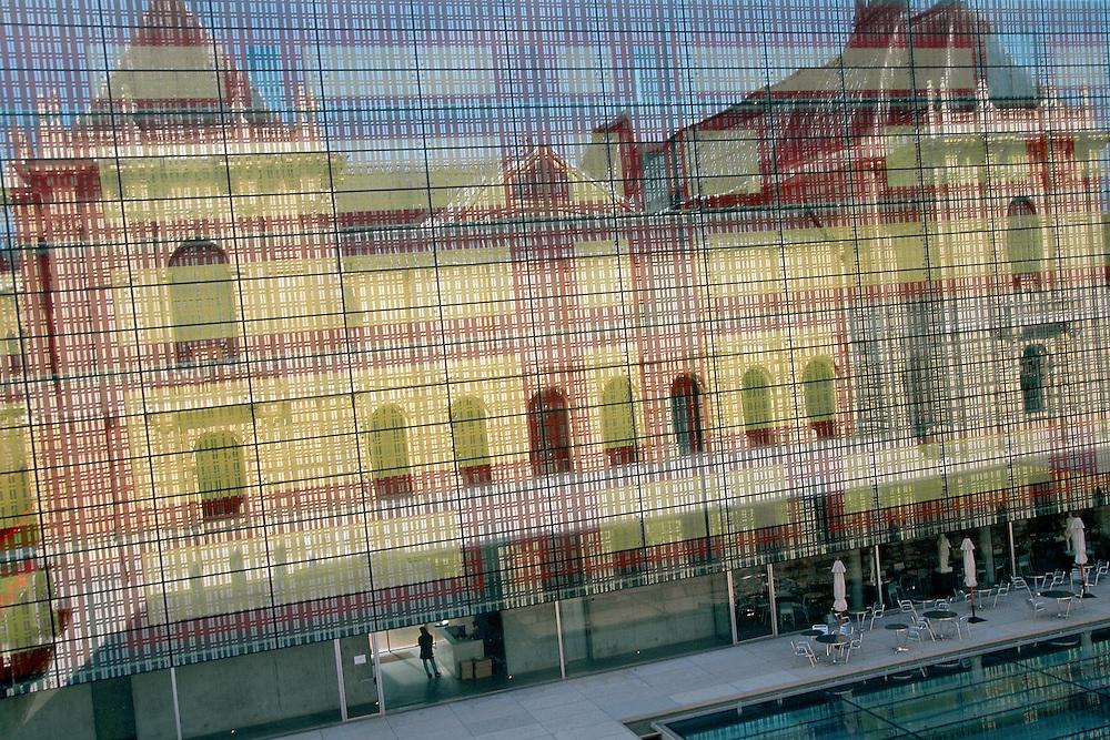 """View from the """"Musée des Beaux Arts"""" (Fine Arts Museum), town of Lille, Nord-Pas-de-Calais region, France."""