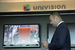 November 1, 2018 - Fresno, California, United States Of America - Fresno County Assistant District Attorney Andrew Janz checks his phone prior to a television interview with Univision on November 1, 2018 in Fresno, California. Janz is running to unseat Rep Devin Nunes Republican of California. (Credit Image: © Alex Edelman/ZUMA Wire)