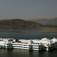 Asia, India, Udaipur. Taj Lake Palace Hotel.