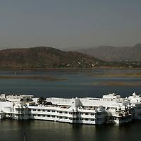 Asia, India, Udaipur. Taj Lake Palace Hotel.