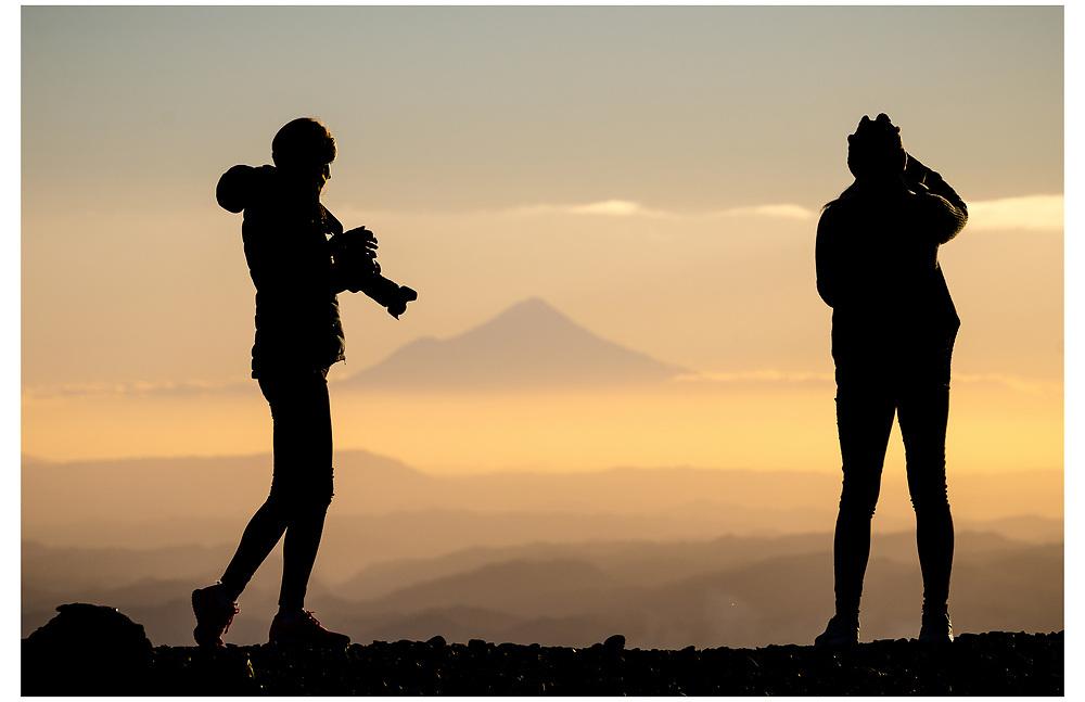 Mt Taranaki from Mt Ruapehu, Tongariro National Park.