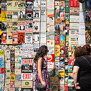 Vintage signs on display at Portobello Road antuiqe market