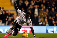 Aboubakar Kamara of Fulham in action. EFL Skybet championship match, Fulham v Barnsley at Craven Cottage in London on Saturday 23rd December 2017<br /> pic by Steffan Bowen, Andrew Orchard sports photography.
