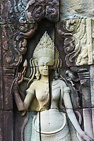 Asie du Sud Est, Cambodge, Province de Siem Reap, Angkor, complexe des temples de Angkor, Patrimoine Mondial de l'UNESCO en 1992, temple de Banteay Kdei // Southeast Asia, Cambodia, Siem Reap Province, Angkor site, Unesco world heritage since 1992, Banteay Kdei temple