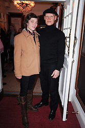 CAMILLA RUTHERFORD and DOMINIC BURNS at a screening of the short film 'Away We Stay' directed by Edoardo Ponti held at The Electric Cinema, Portobello Road, London W1 on 15th November 2010.