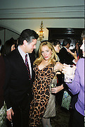 Peter Soros and Candace Bushnell book party. Harington's. London. 1 February 2001. © Copyright Photograph by Dafydd Jones 66 Stockwell Park Rd. London SW9 0DA Tel 020 7733 0108 www.dafjones.com