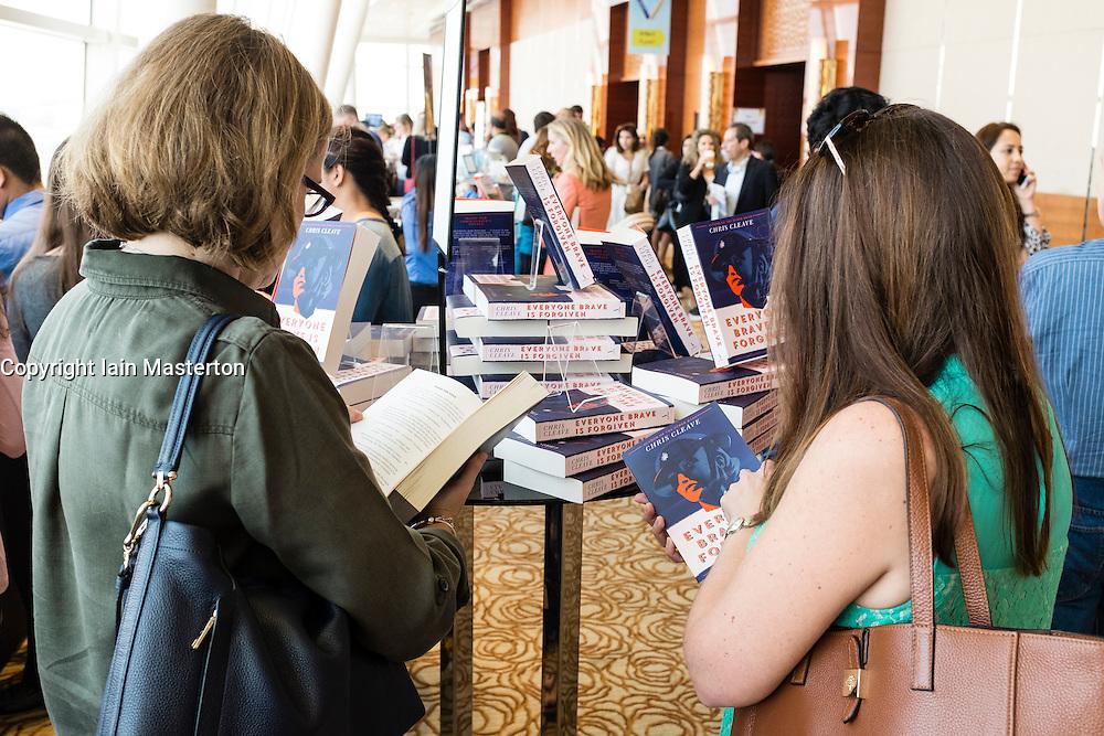 Interior of venue at Emirates Airlines Festival of Literature 2016 in Dubai, United Arab Emirates