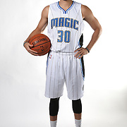 Orlando Magic guard Seth Curry poses for the camera during the NBA Orlando Magic media day event at the Amway Center on Monday, September 29, 2014 in Orlando, Florida. (AP Photo/Alex Menendez)