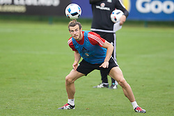 CARDIFF, WALES - Saturday, June 4, 2016: Wales' Gareth Bale during a training session at the Vale Resort Hotel ahead of the International Friendly match against Sweden. (Pic by David Rawcliffe/Propaganda)
