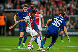 24-05-2017 SWE: Final Europa League AFC Ajax - Manchester United, Stockholm<br /> Finale Europa League tussen Ajax en Manchester United in het Friends Arena te Stockholm / Matteo Darmian #20 of Manchester United, David Neres #77 of Ajax