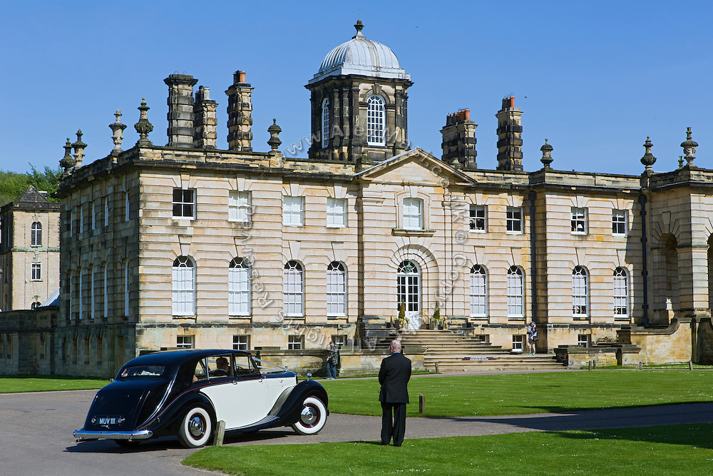 A wedding is taking place at Castle Howard, near York, Yorkshire, England, United Kingdom.