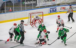 during the match of National Championship of Slovenia 2020/21 between HK SZ Olimpija Ljubljana vs. HDD SIJ Acroni Jesenice, on 12.12.2020 in Hala Tivoli in Ljubljana, Slovenia. Photo by Urban Meglič / Sportida