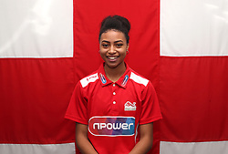 Team England's Cheriece Hylton poses for a photo during the kitting out session at Kukri Sports HQ, Preston.