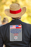 A Civil war descendant during a service at Elmwood Cemetery to mark Confederate Memorial Day May 2, 2015 in Columbia, SC. Confederate Memorial Day is a official state holiday in South Carolina and honors those that served during the Civil War.