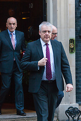 London, December 15th 2014. Northern Ireland's first and deputy first ministers join Scottish and Welsh leaders for Joint Ministerial Committee talks with David Cameron in Downing Street. The talks come three days after Cameron's offer of a financial package for the Northern Ireland Executive was rejected by Stormont. PICTURED:  Welsh First Minister Carwyn Jones emerges from No. 10.
