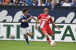 01.09.2012, BayArena, Leverkusen, GER, 1. FBL, Bayer 04 Leverkusen vs FC Augsburg, 2. Runde, im Bild v.l. Atsuto Uchida (FC Schalke 04), Marcel de Jong (FC Augsburg), Aktion // during the German Bundesliga 2nd round match between Bayer 04 Leverkusen and FC Augsburg at the BayArena, Leverkusen, Germany on 2012/09/01. EXPA Pictures © 2012, PhotoCredit: EXPA/ Eibner/ Oliver Vogler..***** ATTENTION - OUT OF GER *****