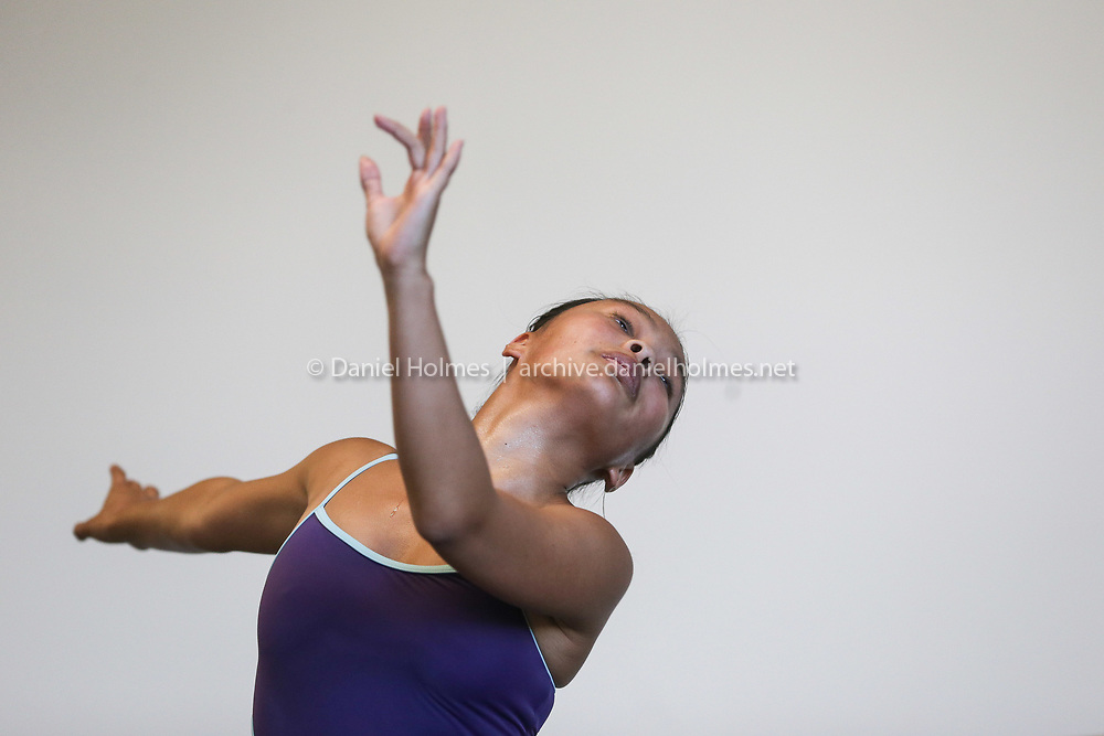(8/15/19, FRAMINGHAM, MA) Sonia Cable, 17, and a rising senior at Framingham High, dances at MetroWest Dance Academy in Framingham on Thursday. Cable has been selected by The Royal Academy of Dance to participate in the Genée International Ballet competition that is being held at The National Ballet School of Canada this August. [Daily News and Wicked Local Photo/Dan Holmes]