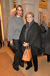 Left to right, VANESSA ARELLE and her mother VIVI ARELLE (check name!) at a Valentine's Ladies breakfast hosted by Tod's and Carolina Bonfiglio at the Tod's boutique in New Bond Street, London on 10th February 2015.