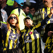 Fenerbahce's supporters during their Turkish superleague soccer derby match Fenerbahce between Besiktas at Sukru Saracaoglu stadium in Istanbul Turkey on Sunday 18 April 2010. Photo by TURKPIX