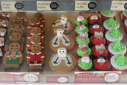 Christmas cakes in bakery<br /><br />Boston had the highest proportion of votes for Brexit in mainland UK. Boston in Lincolnshire was once a sleepy rural town. Since early the 21st century a large influx of economic migrants mainly from Eastern Europe have found work across Lincolnshire, working for the minimum wage in agricultural and construction industries, doing jobs that locals don't to do. Towns have expanded sometimes by 10% during this period. British business needs the migrant workers to survive, but but local people voted the highest proportion for Brexit, 75% against 'Remain', in a protest vote against migrant workers.