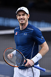 File photo - Andy Murray of Great Britain celebrates winning the Mens Singles Final against John Isner of the United States on day seven of the BNP Paribas Masters at Palais Omnisports de Bercy on November 6, 2016 in Paris, France. Andy Murray shocked the tennis world Friday morning in Melbourne when he announced his plans to retire this year during a tearful press conference ahead of the Australian Open. The former world No. 1 had hip surgery in January 2017 and says the pain has become too much to bear. Photo by Laurent Zabulon /ABACAPRESS.COM