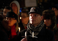 © under license to London News Pictures. 1/12/2010. The Manchester HIV Candlelit Vigil commemorated the victims of HIV past and present. The event was held in Manchester's Sackville Gardens below the city's AIDS memorial.