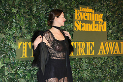 © Licensed to London News Pictures. 13/11/2016. London, UK, Margo Stilley, Evening Standard Theatre Awards, Photo credit: Richard Goldschmidt/LNP