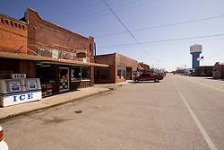 Rundown Buildings in Downtown Commerce Oklahoma
