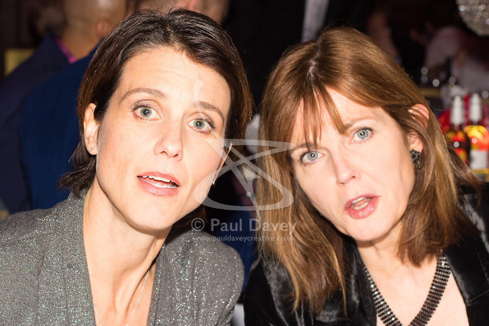 Old Town Hall, Stratford, London - 28 November 2015. Singers Marc Almond, Ronan Parke, Heather Peace and Asifa Lahore headline the Peter Tatchell Foundation's inaugural Equality Ball, a fundraiser for the foundation's LGBTI and human rights work, with guest of honour Sir Ian McKellen  joined by Michael Cashman. PICTURED:  Heather Peace with friend.  //// FOR LICENCING CONTACT: paul@pauldaveycreative.co.uk TEL:+44 (0) 7966 016 296 or +44 (0) 20 8969 6875. ©2015 Paul R Davey. All rights reserved.