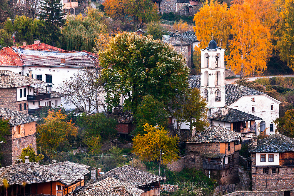 Popular rhodopean village with original and unique architecture of the houses